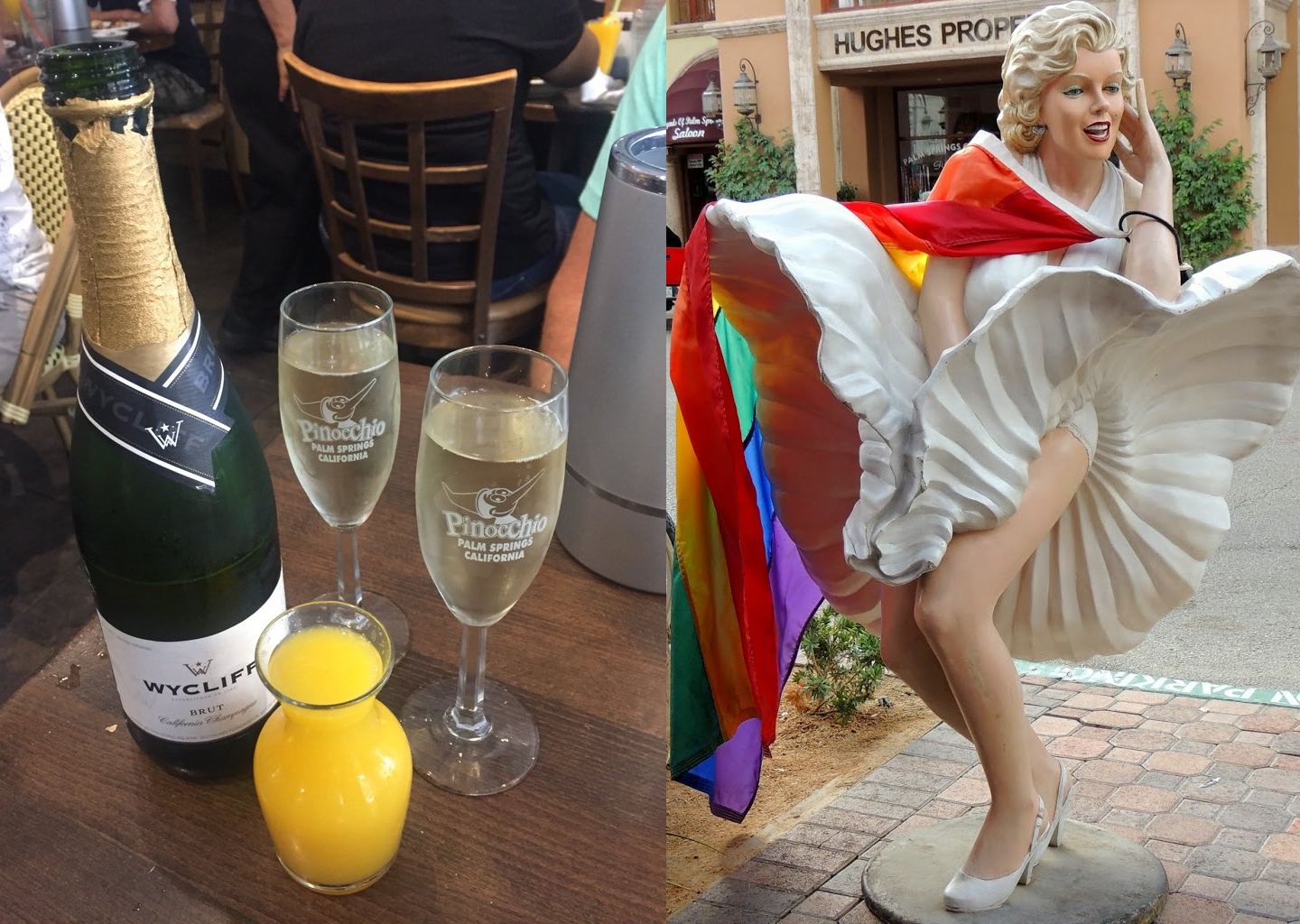 Bottomless Champage / Marilyn Statue