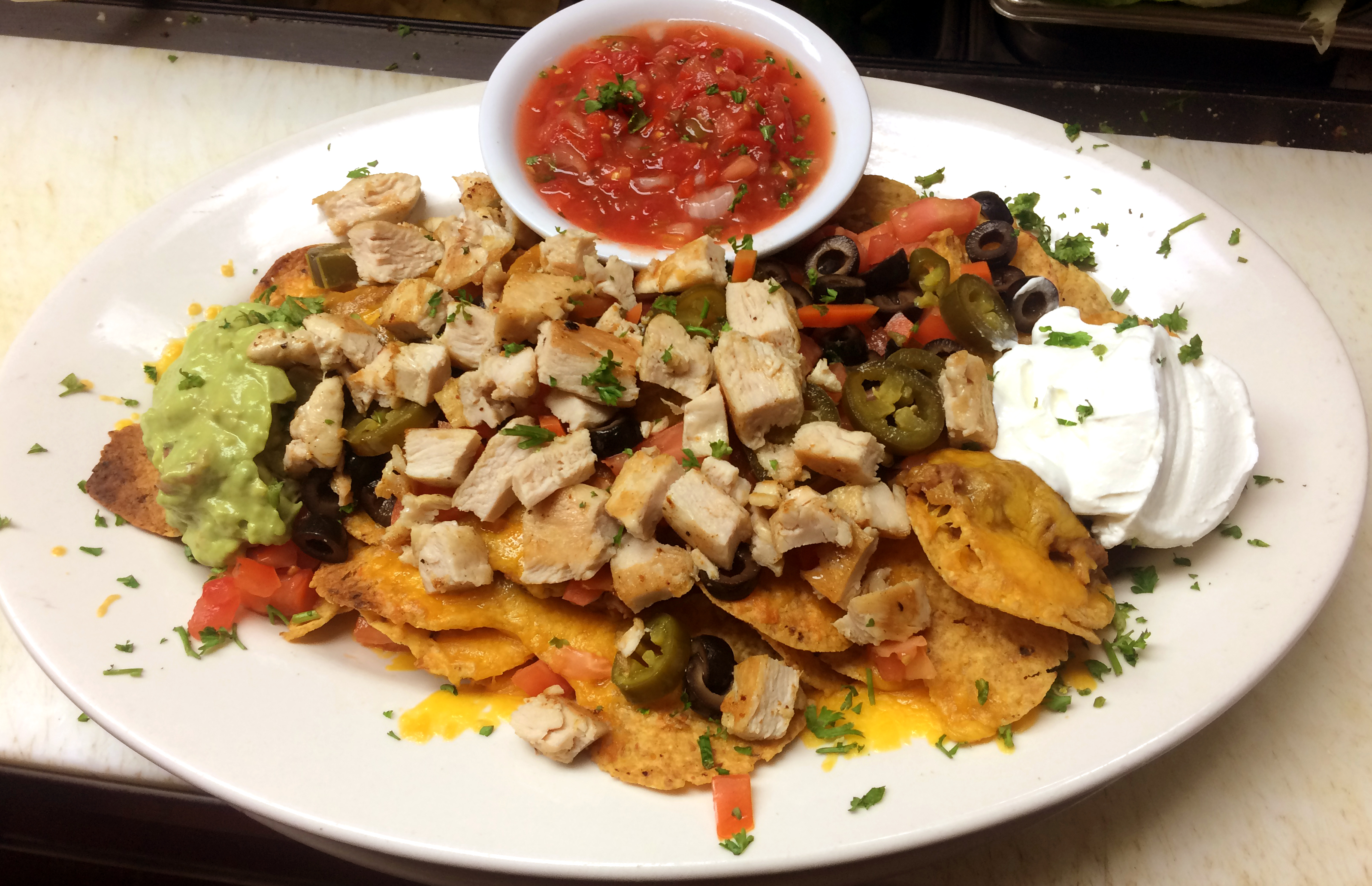Nachos Deluxe with Grilled Chicken
