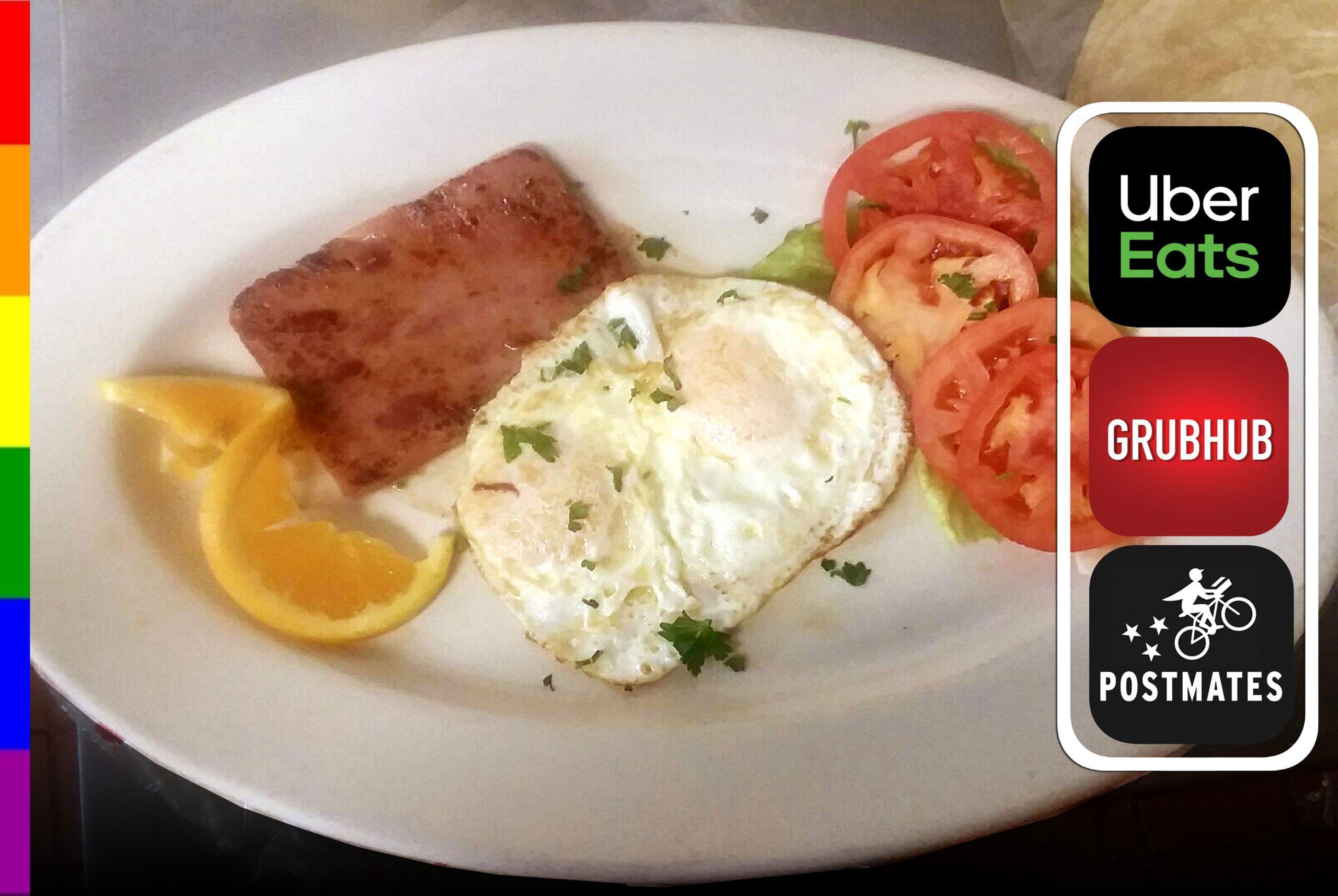2 Eggs with Ham Steak