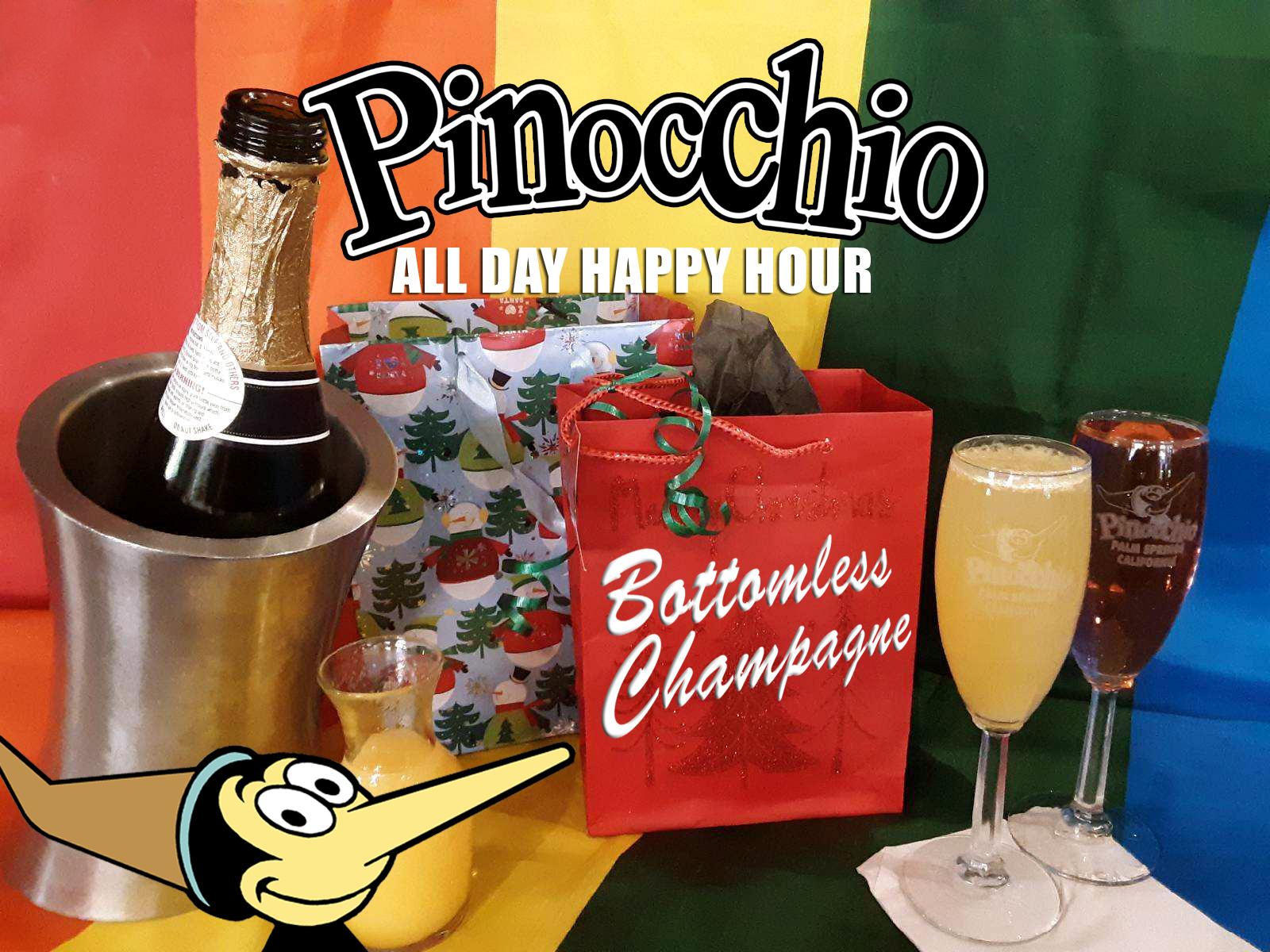 Pinocchio Bottomless Champagne