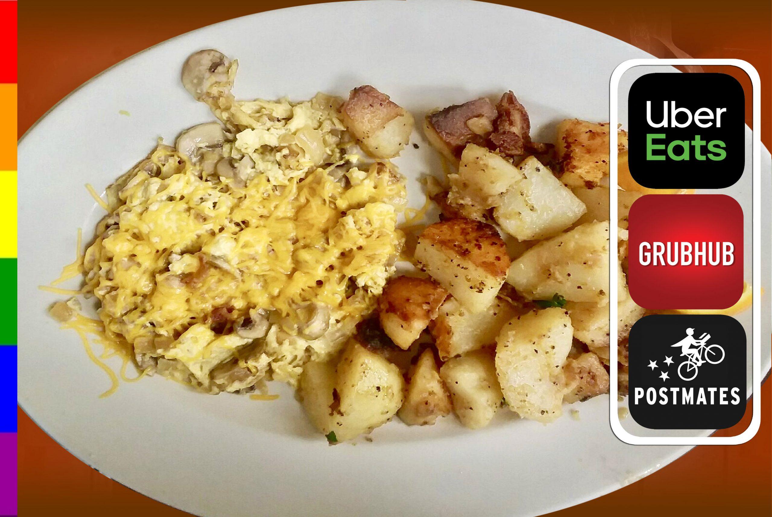 Mushroom, Onion & Cheese Omelette