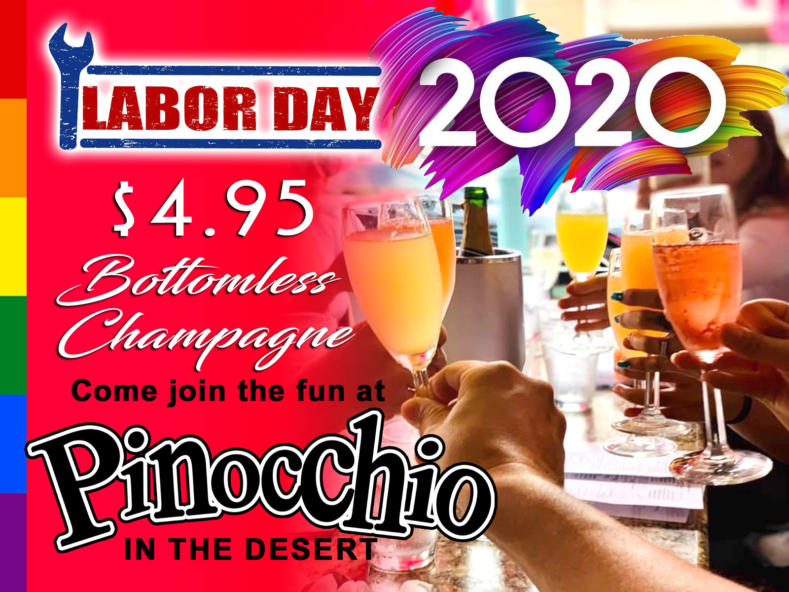Happy Labor Day 2020 - Bottomless Champagne