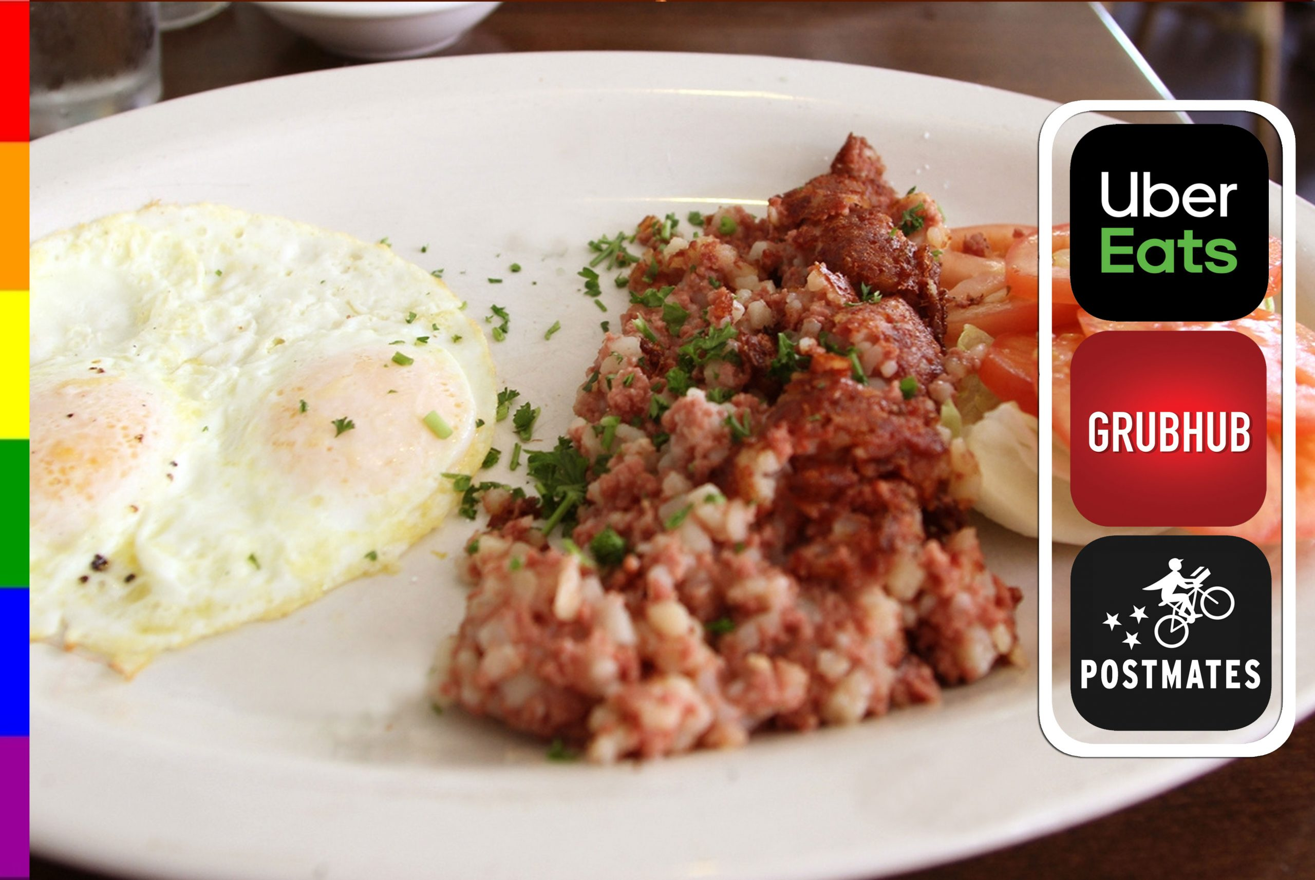 CORN BEEF HASH and EGGS