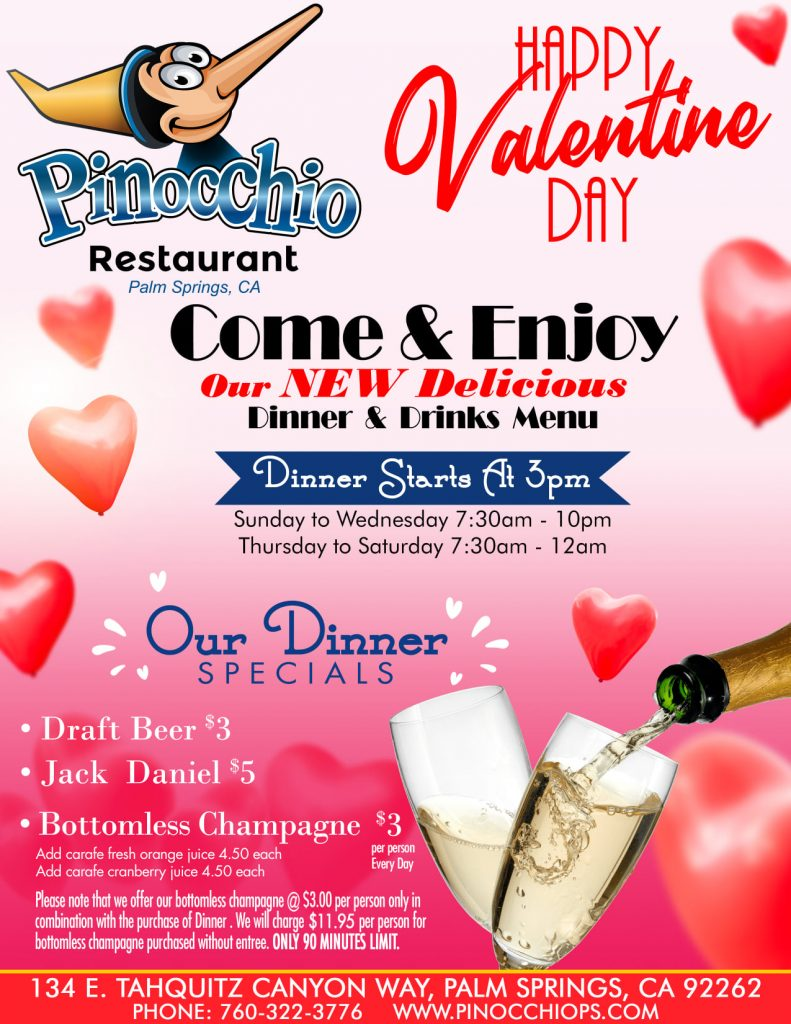 Come & Enjoy our NEW delicious DINNER & DRINK Menu