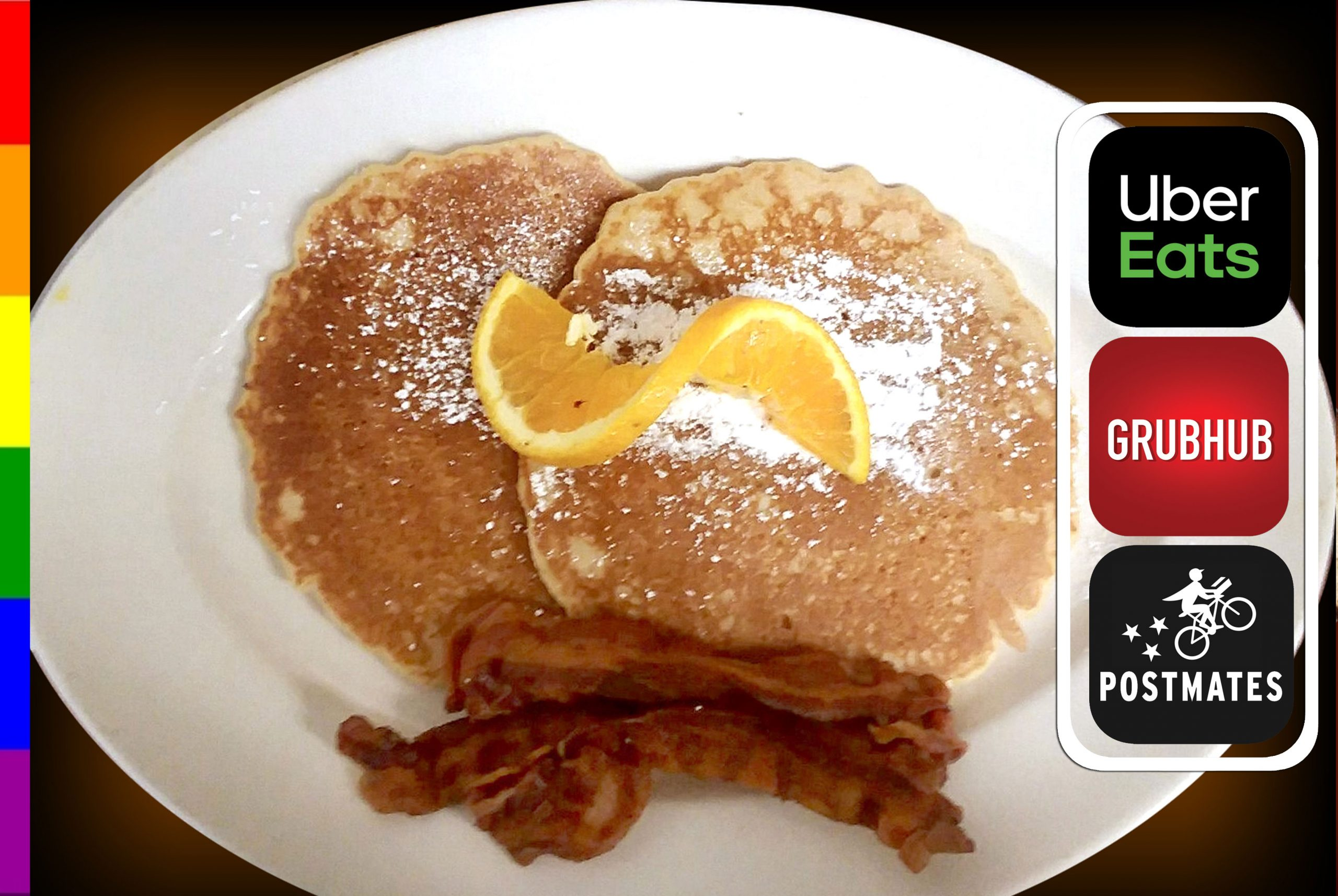 2 PANCAKES WITH BACON