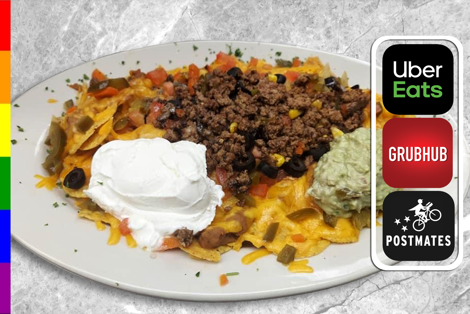 NACHOS DELUXE with BEEF